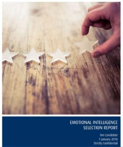 Emotional Intelligence Selection Report