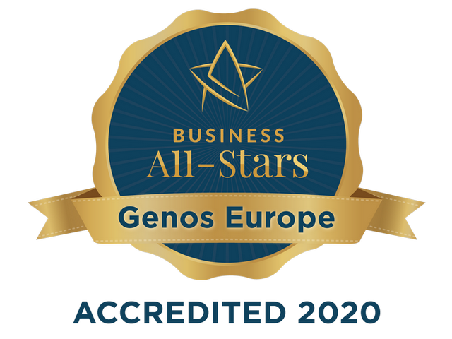 Genos Europe - Business All Stars Accredited seal 2020